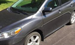 Make Toyota Model Matrix Year 2009 Colour Gray Trans Automatic I have an AWD 2009 Toyota Matrix XR for sale. One owner and smoke free. Very low mileage - 58077km. This car is roomy and gets excellent gas mileage. It has been well maintained with regular