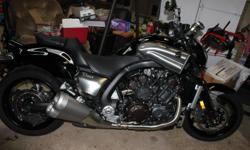2009 Yamaha Vmax 1700. Brand new condition. Just serviced. Factory warranty until spring 2012. All Vmax promo stuff to go with bike(badges, book, paperwork and manual). Just not using it enough to keep it. New list price is $23,000. Good deal