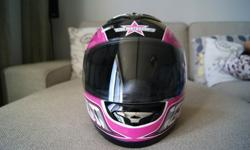 Excellent condition, only worn twice. Helmet cloth bag/carrier also included.Price: $200.00Size: X-SmallProduct Details:? The Mainframe helmet from Icon was designed with the rider's safety, fit and function in mind ? The shell is constructed of a
