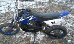 2010 orion 150cc dirt bike. runs good, needs a stator ignition plate. (22.95$). and needs rear tube 7.99$. i want to trade for a running atv, snowmobile or somting like that. NOTHING else, no paintball guns or anything like that. 550$ obo, lowest is 500$.