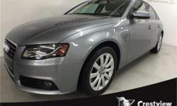 Make Audi Model A4 Year 2010 Colour Quartz Gray Metallic kms 83310 Trans Manual Price: $17,803 Stock Number: 16T145A Interior Colour: Black Cylinders: 4 Low KMs, Leather Heated Seats, Power Sunroof, Turbocharged, Keyless Start, Multi-Zone Air