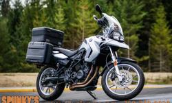 2010 BMW F650 GS $8,399 + fees and taxes Financing available. 41219km Stock# 1913 Dealer# 10826 The BMW F 650 GS is a real all -rounder, with real power. Compact and lightweight, practical and well-balanced, it is equally at home around town, on gravel