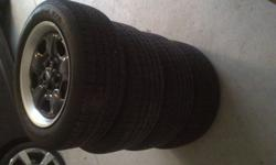 Just seeing if anyone is interested in my 2010 camaro black heritage rims that come off the LS model. All tires have 3000 km (practically brand new) comes with the Tire pressure monitor sensors as well. Also, I have 2010 camaro headlights from my car as