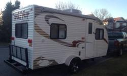For sale 2010 Forest River Wolf Pup 17P!!! Perfect size to be towed behind small SUV or Van. Features: -Sleeps 4 -Cd/Radio -Microwave, stove, sink, Fridge -Air Conditioning/heat -hookups for a TV -Aluminum Rims -NitroFill tires to improve fuel
