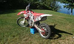 2010 honda crf 250r The bike is new with very low hours. It's fuel injected, has ASV unbreakable leavers. comes with spare front and rear tire, spare chain and sprockets Need the money, No trades 6000$