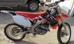 I have a 2010 crf450r with a monster graphics on it. the bike has never been raced or damaged in any way never wiped out on it or crashed. the bike has lots of power never hit rev limiter. im selling it because i dont use it enough. the bike has about 20