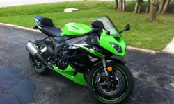 Hello, selling my 2010 Ninja ZX-6R. Bike is in great shape, low KMs, fender eliminator kit. Never dropped or tracked. Good on insurance. 10,500 KMs Just not enough time to ride any more.