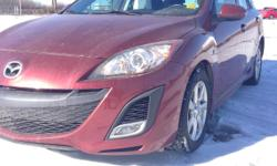 Make Mazda Model Mazda3 Year 2010 Colour Maroon kms 99732 Trans Automatic With Mazda's cutting-edge technology, head-turning design, and outstanding fuel economy prove this vehicle to be an incredible drive. Take a drive in this well equipped 4 door sedan