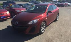 Make Mazda Model MAZDA3 Year 2010 Colour RED kms 118000 Trans Automatic 2010 Mazda Mazda3 GX 4dr Sdn Auto 4 Cylinder Engine 2.0L/122 118,000 KM A1 AUTO SALES 3925 Route 1A Travellers Rest Summerside P.E call Ridvan 902-439-0915 FINANCING Start at 4.99