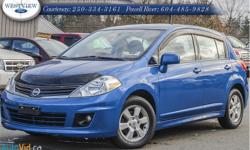 Make Nissan Model Versa Year 2010 Colour Blue kms 134242 Trans Automatic Price: $8,988 Stock Number: 15260B Interior Colour: Grey Great value and many options on this reliable commuter car! Moonroof, window vent shades, hood protector and fog lamps. Brand
