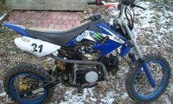 2010, orion pit bike. runs mint, but needs a tube and stator plate. i can start it if you would like to hear it hum. this bike is a 150cc air cooled, has a racing cdi box, new chain. you can get a stator plate at your local honda dealer. this bikes very