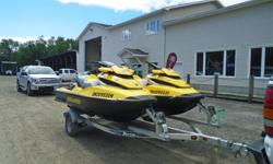 2010 Seadoo RXT 215 hp package Description: Just the ticket for an unforgettable day on the water with the power, handling, and stability offered by this pair of 3 seater SeaDoos. These PWC's are in good condition and are being sold as a package on a 2010