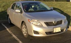 Make Toyota Model Corolla CE Year 2010 Colour Silver kms 79500 Trans Automatic Awesome, reliable, economical 2010 Toyota Corolla with only 80000kms. Automatic, power locks and windows, ac, clean and accident free. Could use new tires - but that's why it's