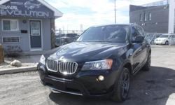 Make BMW Model X3 Year 2011 Colour BLACK kms 101000 Trans Automatic 6 MONTHS WARRANTY WITH PURCHASE FOR FREE ! 2011 BMW XDrive 3.5i AWD ! V6 ENGINE POWERFUL LUXURIOUS RIDE ! WITH AUTOMATIC TRANSMISSION, FULLY EQUIPPED, NAVIGATION, LEATHER INTERIOR,