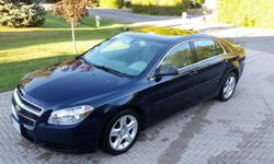 Make Chevrolet Model Malibu Year 2011 Colour Blue kms 85000 Trans Automatic Smoke free, accident free, very well maintained Chevy Malibu. Low km's on this economical 4 cyl. engine and comes equipped with all the necessities. Winter tires on rims installed