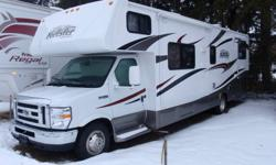 Used for 2 weekends only last summer. Less than 5000 km good as new! Bunk model perfect for a family or grandkids. 2 slideouts, Queen bed, bunk beds, pull out couch, table folds into bed and bunk over cab. sleeps 8 comfortably. Comes with all kitchen