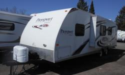 Front Queen Bed. Double Bed with Overhead Single Bunk. Large Fridge with Freezer. Furnace. Awning. Large Slide Out.