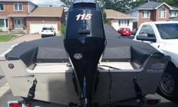 Good condition 179 Princecraft with a Mercury 115 4 stroke. Low hours. Engine is very fuel efficient. - Three folding seats -75lb Motor guide trolling motor -Lowrance HDS 5 Gen 2 Fish Finder -2 Livewells -Lots of storage -Rod Locker -Radio with aux (2