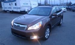 Make Subaru Model Outback Year 2011 Colour Brown kms 97632 Price: $16,990 Stock Number: BC0026911 Interior Colour: Tan Cylinders: 4 Fuel: Gasoline 2011 Subaru Outback 2.5i Limited, 2.5L, 4 cylinder, 4 door, automatic paddle shift, AWD, 4-Wheel ABS, cruise