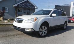 Make Subaru Model Outback Year 2011 Colour WHITE kms 174000 Trans Automatic 6 MONTHS WARRANTY WITH PURCHASE FOR FREE ! 2011 SUBARU OUTBACK PREMIUM EDITION, 4 CYLINDER 2.5L ENGINE EASY ON GAS, ALL WHEELS DRIVE ((AWD)) READY FOR THE WINTER !! LOADED WITH