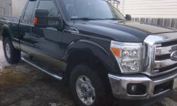 Make Ford Model F-250 Super Duty Year 2011 Colour black / tan kms 24500 Trans Automatic 6.2 L gas engine, XLT package, extended cab, trailer tow package w/ brake integrated brake controller, power heated mirrors, full weather tech mats, back rack system,