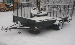 New ATV Trailer 80inch x 12ft w/ 4ft Side Ramp, Includes Tongue Jack. 3500lb Axle. Payload 1738 lb Also Various size box trailers, Call for pricing Full trailer line available Parts in stock Sales and Service to any type of Trailer Springwater Trailers &