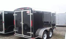 """2012 Atlas Cargo """" All Purpose Enclosed cargo Trailer tandem axle 6' X 12' for $3791.00 or lease to own for $89.00 a month Some of our Standard Features: Clear LED tail lights 3/8? Walls with 16? OC Beams ¾? Advantech Floor Undercoated Wheel wells and"""