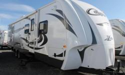 KEYSTONE COUGAR X-LITE 31SQB, AUTUMN NIGHT INTERIOR DECOR, LIVING ROOM SLIDE, WARDROBE SLIDE, FRONT QUEEN ISLAND BED, REAR BUNK HOUSE, U-SHAPED DINETTE, SOFA, FRIDGE, 3 BURNER RANGE W/OVEN, , MICROWAVE, LP DETECTOR, SMOKE DETECTOR, COUGAR COMMAND CENTRE,