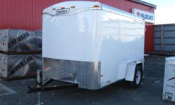 """2012 Haulmark 6'x10' White,15"""" wheels,rear barn doors,single 3500lb axle,white spoke wheels,3/4"""" plywood decking,2ea 12 volt dome lights, wood interior liner,1pc aluminum roof,24"""" stoneguard,32""""x60""""   For more information call Andy or Tracy 902-843-4800"""