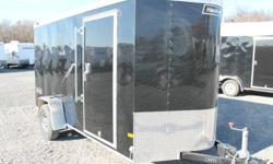 """BLACK EXTERIOR COLOUR, REAR RAMP DOOR, SIDE ENTRY DOOR, FRONT STONEGUARD, 14"""" X 14"""" NON POWERED ROOF VENT, 2 X 12V INTERIOR DOME LIGHTS, 12V SURFACE MOUNT WALL SWITCH, 4 X SQUARE D-RINGS, GVWR 2980LBS, DRY WEIGHT 1325LBS www.1000islandsrv.com"""