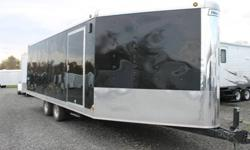 BLACK EXTERIOR COLOUR, REAR RAMP DOOR, FRONT RAMP DOOR, SIDE ENTRY DOOR, FRONT STONEGUARD, ELECTRIC BRAKES, CHROME NOSE, 2 X 12V INTERIOR DOME LIGHTS, 12V SURFACE MOUNT WALL SWITCH, CHROME REAR CORNERS & HEADERS, TRACTION BLOCKS FOR RAMP DOOR, SNOW