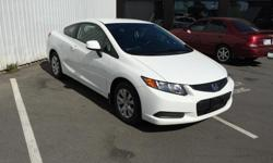 Make Honda Model Civic Year 2012 Colour White kms 103000 Trans Manual Yes you read correctly...... a 2012 Civic for 8k$.... Its the best priced civic in all of bc IFFFFFF you don't mind a 2 door, 5-speed. Everyone wants 4 door automatics in civics which