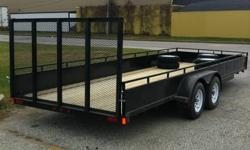 "Kargo Max builds a premium quality trailer, made in Canada. This 20' long model has maximum allowable width at 82"", solid sides, electric brakes, 2-3500 lbs axles, 15"" wheels, sealed beam lights in protective housings, 2x8 Premium pressure treated floor"