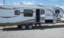 Value Package, Camping in Style Package, Polar Package Plus, Convenience Package 2, Two Reclining Chairs, Aluminum Wheels, Day / Night Shades, Safety Glass Windows, CO Detector, Electric Power Awning, Tinted Windows, Free Standing Dinette, Sleeping For