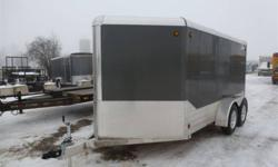 """The Trailer Depot 1539 Chemong Road Peterborough, Ontario K9J 6X2   tel(705)741-5631 or (705)761-2518 fax(705)741-2860 cell(705)868-1670   http://www.thetrailerdepot.ca   """"WE ACCEPT TRADES AND CONSIGNMENT TRAILERS""""   2012 LEGEND DELUXE V NOSE (ALL"""