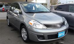 Make Nissan Model Versa Year 2012 Colour Grey kms 33810 Trans Manual Price: $12,995 Stock Number: 7372A Interior Colour: Grey Engine: 4 Cylinders Cylinders: 4 Fuel: Gas This 2012 Nissan Versa is a great vehicle for in town driving and those long road