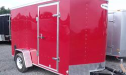 RED EXTERIOR COLOUR, REAR RAMP DOOR, SIDE ENTRY DOOR, FRONT STONEGUARD, 12V INTERIOR DOME LIGHT, 4 X SQUARE D-RINGS   www.1000islandsrv.com