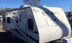 Excellent condition 2012 Winnebago Lil' Dog Toy Hauler/ Camper Trailer, has two queen beds one in front and one in back, kitchen, full bathroom, asking $13995. Pls call Dan Flint Auto 705-941-8779.