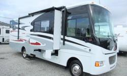 Easy to handle and LOADED with options! Includes a power-awning, slide-toppers, exterior CD player with (2) speakers, DVD/CD/MP3 player w/surround-sound, Onan RVGQ 4KW gas generator, Fantastic Fan in the living area, (2) LCD TVs, digital TV antenna