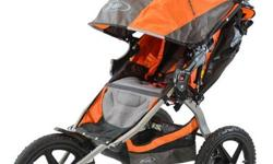 Hi there, I have a orange and grey BOB SUS in like new condition. PLEASE NOTE THIS IS NOT THE SWIVEL FRONT WHEEL MODEL. This model is super heavy duty, you can take and run with this stroller on hiking trails. I have reinforced and lengthened the