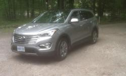 Colour silver Trans Automatic kms 54000 2013 Sante Fe, HYUNDAI XL for only $29,995.xx Seven passenger car, like an SUV. Low mileage, just at 50,000 kilometers. Still under warranty. Luxury heated leather seats for front and back passengers. Anti rust