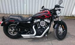 2014 Harley Davidson Sporster XL1200X Forty-Eight. The bike has ONLY 2000 kms on it! It's basically like new. 4.5 gallon, Vance & Hines Short Shots exhaust system, a Kuryakyn Velociraptor air intake, Stage 1 fuel mapping, side swingarm saddle bag and two