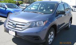 Make Honda Model CR-V Year 2014 Colour Blue kms 35300 Trans Automatic Very well taken care of one owner CRV, AWD also has trailer hitch receiver. This CRV was purchased with 84 month or 130,000 Km's extended comprehensive warranty for peace of mind for