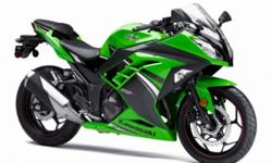"Lady driven bike. MINT condition. Whether referring to engine or chassis performance, or the latest available technology, the name ""Ninja"" implies the very best that Kawasaki has to offer. In the case of the Ninja 300, it means a larger-displacement 296cc"