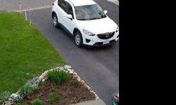 Colour white NEW 2014 WHITE MAZDA CX5 basic model . Wanting to just pay balance for ownership . At time of typing was the around the above amount and get lower. Works likes Cadalliac. Just wanting to pay less bills is my reason. AS of this posting.....