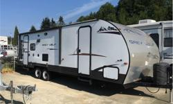 Price: $19,995 Stock Number: HWT1804A Specifications Maximum Sleeping Capacity: 6 Number Of Slideouts: 1 Length (ft-in / m): 30' 11'' / 9.4 Interior Height (in / mm): 78 / 1981.2 Base Weight (lbs / kg): 5711 / 2590.5 Carrying Capacity (lbs / kg): 2029 /