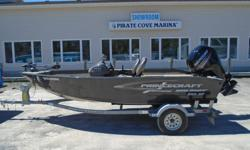 2016 Princecraft 16 Holiday DLX Description: This popular aluminum side console fishing boat isn't lacking any power. It is powered by a very fuel efficient Mercury 75hp 4 Stroke ELPT (still under full factory warranty until 06/02/2019). This boat is in
