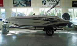 "This 20' 1"" deck boat has quickly become one of the most popular models in our line. While it is clearly built for fun, its thoughtfully engineered interior and abundant storage compartments throughout enable you to bring a whole group of friends and lots"