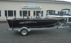2018 Lund 1625 Fury XL SS, Black Price includes all standard features plus: Evinrude E60 DPGL ETEC Vinyl floor and bow deck Windscreen Travel cover Stereo Aft Flip Seat/Casting Deck Pre-wired For Bow Trolling Motor Upgraded Galvanized Bunk Trailer with
