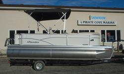 The Aurora Angler is our affordable fishing pontoon boat line packed with waves of standard features and the quality you expect from a Manitou. So, if you seek the flexibility of enjoying both the speed for skiing and the battling of a bass, choose this